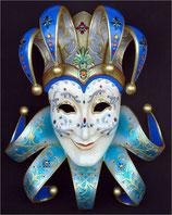 RÉPLICA DE MASCARA VENECIANA DE COLOR AZUL Y BLANCO | Réplicas de máscaras venecianas