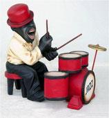 Figura de musico de jazz tocando la batería | Réplicas de músicos