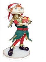 Réplica de elfo para decoración de Navidad de gran calidad