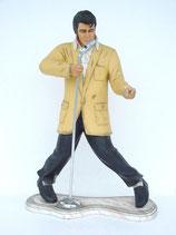RÉPLICA DE ELVIS CANTANDO CON MICRO Y CON SU POSE TÍPICA | Figuras de Elvis Presley
