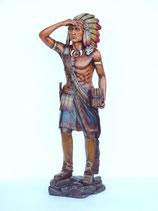 Réplica de indio en postura de vigilancia | Figuras de indios