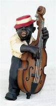 Réplica de bajista de jazz tocando su violonchelo | Figuras de jazz