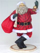 Figura típica de santa claus para decoración de navidad