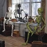 Decoración de terror para lograr decorar halloween con la máxima calidad posible. Réplicas de esqueletos.