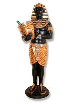 FIGURA DE EGIPCIO SUJETANDO UN BOTELLERO | Figuras egipcias