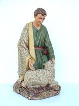 Figura de Pastor con cabra para decoración de navidad en pesebres gigantes