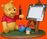 Figura de Winnie pintor con caballete porta fotos | Figuras de Winnie the Pooh