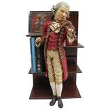 RÉPLICA DE ESTANTERÍA DEL MÚSICO MOZART TOCANDO EL VIOLÍN | Réplicas de Mozart