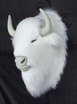réplica de cabeza de bisón blanco | figuras de bisontes