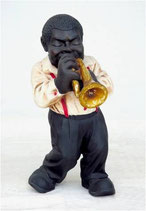 Figura de músico de jazz tocando la trompeta | Réplicas musicales