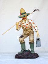 Figura de granjero con rastrillo y regadera | Figuras de granjeros