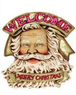 Cartel de Papa noel para una buena decoración de navidad