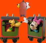 FIGURAS DE MINNIE Y PLUTO SUBIDOS EN UN TREN | Figuras Disney