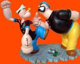 Réplica de Popeye y Brutus peleando | Figuras de Popeye