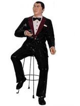 Réplica de Frank Sinatra cantando con una copa en su mano | Figuras de Frank Sinatra