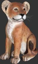 réplica de león pequeño sentado | figuras de leones