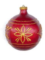 Adorno navideño | Bola roja y dorada | decoración de navidad
