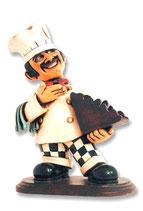 Figura de chef italiano con portacartas | Réplicas de chefs