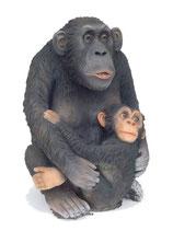Figura de mono madre e hijo | réplicas de monos