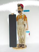 FIGURA DE PINTOR CON HERRAMIENTAS Y PIZARRA | Figuras de pintores