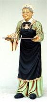 Réplica de sirivienta con bandeja | Figuras de sirvientas