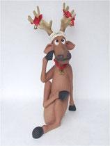 Figura de reno sentándose | Figuras navideñas