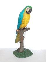 Réplica de loro en árbol | réplicas de loros - decoración temática