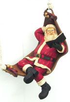 Figura de Papa Noel en hamaca para decoración de navidad