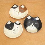 手漉き和紙のおすまし猫顔トレー