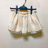 たっぷりギャザーと裾レースのKidsスカート