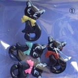 送料無料/可愛い黒猫のデコパーツ