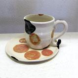 三毛猫のカップ&ソーサー