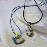 アニマル陶器のペンダント/鳥や 猫や フクロウ達