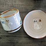 トナラ焼き 猫のカップ&ソーサー