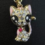キラキラな瞳の猫ちゃんキーホルダー