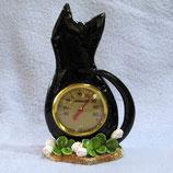 黒猫にクローバー寒暖計