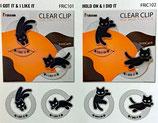 猫ピクトのクリアクリップ2種