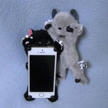iPhone5・5C・5S スクラッチ猫スマホスタンド