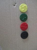 Hydraulikkupplung mit Klappdeckel und farbiger Kennzeichnung