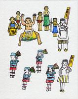 和歌祭(相撲とり・連尺)