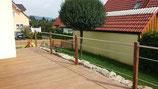 70x70mm Zaunpfosten aus Hartholz IPÉ