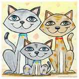 Kaufman - Three happy Cats