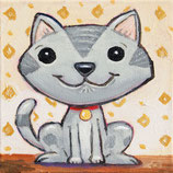 Kaufman - Smiling grey Cat