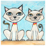 Kaufman - Two Siamese Cats