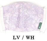 レース柄マスク  LV/WH