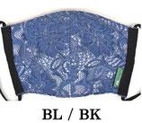 レース柄マスク   BL/BK