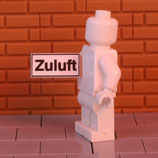 """Schild """"Zuluft"""""""