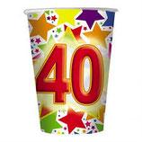 Bicchieri 40 anni - 10 pezzi