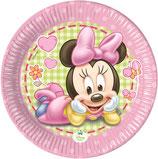 Piattini Baby Minnie 18cm - 8 pezzi