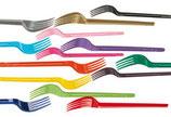 Forchette in plastica colorate - 20 pezzi
